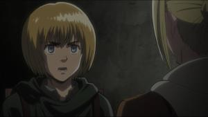armin and annie in alleyway