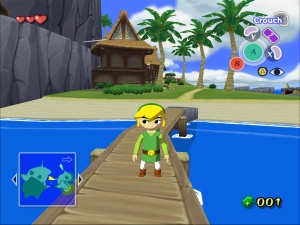 Link looking like a boss on the bridge