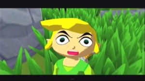 Link suprised the bird stole his sister